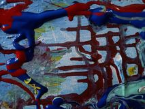 My world. Acrylic painting for digital printing on canvas stock photography