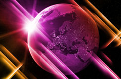 My world is pink. Since I met you my world is pink Royalty Free Stock Photos