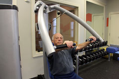 83-year old full of energy senior  Royalty Free Stock Photography