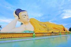 Mya Tha Lyaung Reclining Buddha, Bago, Myanmar Royalty Free Stock Photography