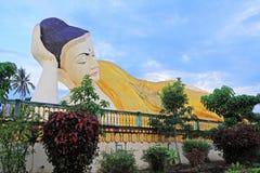 Mya Tha Lyaung Reclining Buddha, Bago, Myanmar Royalty Free Stock Photo