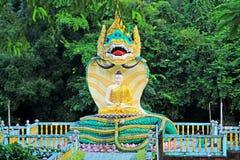 Mya Tha Lyaung Reclining Buddha Snake Statue, Bago, Myanmar Stock Photos