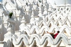 Mya Thein Tan Pagoda, Mingun, Myanmar Birma stockfoto