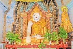Mya Zedi Pagoda Buddha Image Bagan Archaeological Zone, Myanmar Royaltyfri Bild
