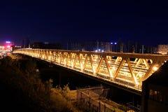 Myakininskaya (Mitinskiy) Metro bridge in Moscow Royalty Free Stock Photos