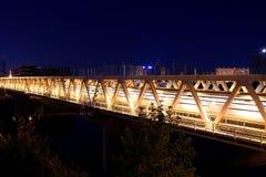 Myakininskaya (Mitinskiy) Metro bridge in Moscow Stock Photography