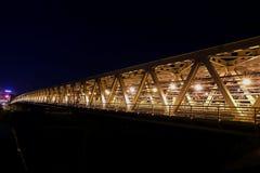 Myakininskaya (Mitinskiy) Metro bridge in Moscow Royalty Free Stock Image