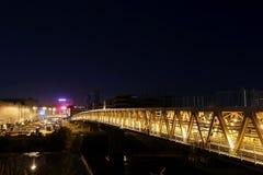 Myakininskaya (Mitinskiy) Metro bridge in Moscow Royalty Free Stock Images