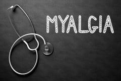 Myalgia Concept on Chalkboard. 3D Illustration. Royalty Free Stock Image