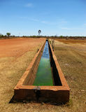 Myalls Bore Derby. Myalls Bore water trough near Derby in Western Australia Stock Photo