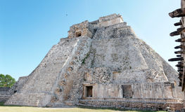Myan Magician's Pyramid Uxmal Stock Photo