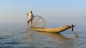 рыболов myanmar стоковая фотография