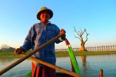 рыболов myanmar стоковые изображения rf