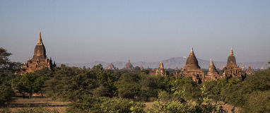 Myanmar, ancient Stupas Stock Photography