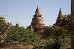 Myanmar, antyczna stupa Zdjęcia Royalty Free