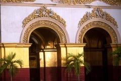 Myanmar art at entrance on Maha Muni Pagoda. Royalty Free Stock Photos