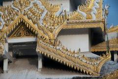 Myanmar art on Maha Muni Pagoda. Royalty Free Stock Images