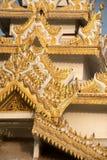 Myanmar art on Maha Muni Pagoda. Stock Photos