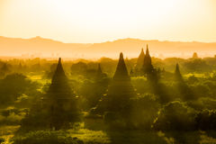 Myanmar bagan świątyni Burma podróży poganina lekki królestwo zdjęcia stock