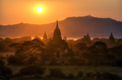 myanmar bagan świątynie Obraz Stock