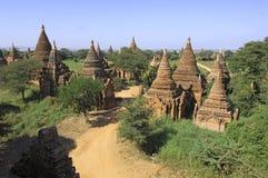 Myanmar, Bagan: allgemeines Panorama Stockfotografie