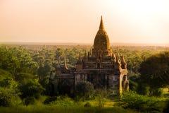 Myanmar bagan de reis Heidens Koninkrijk van tempels licht Birma Stock Foto