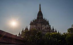 Myanmar Bagan historical site Annanda on sunset. Burma Asia. Buddha pagoda royalty free stock photos