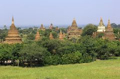 Myanmar, Bagan: panorama generale Fotografie Stock