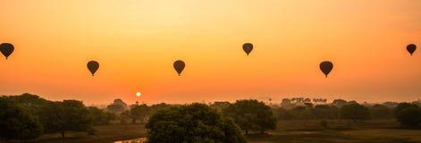 Myanmar Bagan rain forest on sunset. Burma Asia. Buddha pagoda royalty free stock photos