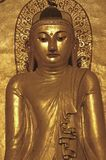 Myanmar, Bagan: sculpture of a  buddha Stock Photography