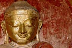 Myanmar, Bagan: Statue in Dhammayangyi Temple Stock Images