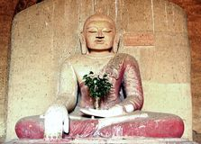 Myanmar, Bagan: Statue in Dhammayangyi Temple Royalty Free Stock Photos