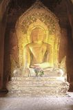 Myanmar, Bagan: Statue in a pagoda Royalty Free Stock Images