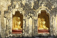 Myanmar, Bagan: Statue in a pagoda Stock Photos