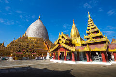 Myanmar bagan tamples light birma. Travel Royalty Free Stock Image