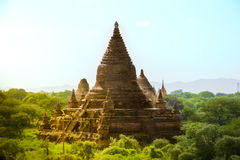 Myanmar bagan tamples light birma. Travel Royalty Free Stock Photos