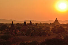 Myanmar Bagan TempleStupa royaltyfria bilder
