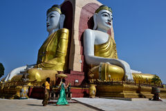 Myanmar Bago Buddha royalty free stock photos