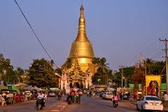 Myanmar Bago Pagoda. Travel through historical places in Myanmar / Birma stock photography
