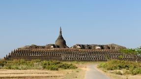 Myanmar (Birma), U Mrauk - Tempel Kothaung Royalty-vrije Stock Afbeeldingen