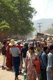 Myanmar, Birmania, caverna di Pindaya Fotografia Stock Libera da Diritti