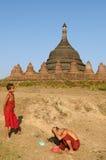 Myanmar (Birmania), Mrauk U - Ratanabon Paya immagini stock