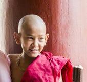 Myanmar Buddhist monk at Shwezigon Paya, Bagan, Myanmar Royalty Free Stock Photos