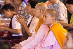 Myanmar Buddhist monks Stock Image