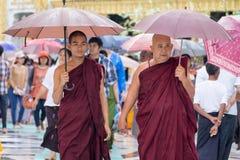 Myanmar Buddhist monks Stock Photos