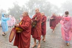 Myanmar buddistiska munkar Royaltyfria Bilder
