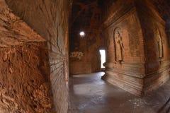Nathlaung Kyaung Temple engraved wall. Myanmar Burma Bagan Nathlaung Kyaung Temple engraved wall royalty free stock image