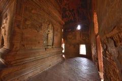 Nathlaung Kyaung Temple engraved wall. Myanmar Burma Bagan Nathlaung Kyaung Temple engraved wall stock image