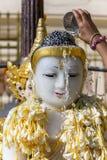 Myanmar / Burma buddha in Songkran festival Myanmar Royalty Free Stock Photo