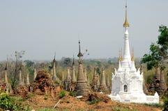 Myanmar / Burma Indein Pagodas Royalty Free Stock Photos